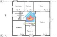 Проект дома из СИП панелей Браво - МосСипСтрой (изображение 1)