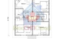 Проект дома из СИП панелей Канцлер - МосСипСтрой (изображение 2)