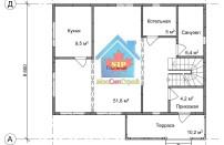 Проект дома из СИП панелей Соната - МосСипСтрой (изображение 1)