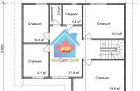 Проект дома из СИП панелей Соната - МосСипСтрой (изображение 2)
