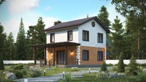 Проект дома из СИП панелей Дания - МосСипСтрой