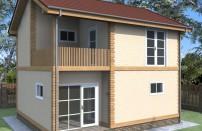Проект дома из СИП панелей Агнета - МосСипСтрой (изображение 1)