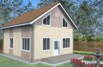 Проект дома из СИП панелей Бен - МосСипСтрой (изображение 1)
