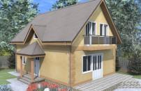 Проект дома из СИП панелей Бригита - МосСипСтрой (изображение 1)