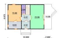 Проект дома из СИП панелей Бригита - МосСипСтрой (изображение 2)