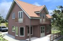 Проект дома из СИП панелей Аманда - МосСипСтрой (изображение 1)