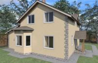 Проект дома из СИП панелей Ева - МосСипСтрой (изображение 1)