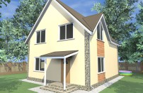 Проект дома из СИП панелей Инга - МосСипСтрой (изображение 1)