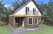 Проект дома из СИП панелей Лайма - МосСипСтрой (изображение 1)