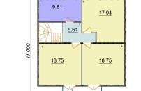 Проект дома из СИП панелей Лайма - МосСипСтрой (изображение 3)