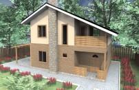 Проект дома из СИП панелей Альма - МосСипСтрой (изображение 1)