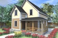 Проект дома из СИП панелей Дария - МосСипСтрой (изображение 1)