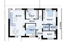 Проект дома из СИП панелей Гораций - МосСипСтрой (изображение 2)