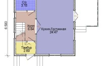 Проект дома из СИП панелей Лидия - МосСипСтрой (изображение 2)
