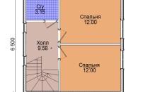 Проект дома из СИП панелей Лидия - МосСипСтрой (изображение 3)
