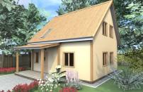 Проект дома из СИП панелей Адомас - МосСипСтрой (изображение 1)