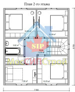 Проект дома из СИП панелей Купавна - МосСипСтрой (изображение 2)