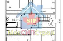 Проект дома из СИП панелей Купавна - МосСипСтрой (изображение 6)