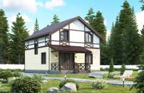 Проект дома из СИП панелей Канцлер - МосСипСтрой (изображение 1)