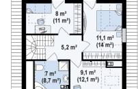 Проект дома из СИП панелей Осенний - МосСипСтрой (изображение 2)