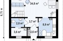 Проект дома из СИП панелей Осенний - МосСипСтрой (изображение 1)