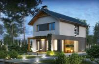 Проект дома из СИП панелей Таунс - МосСипСтрой (изображение 1)