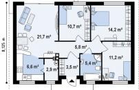 Проект дома из СИП панелей Рига - МосСипСтрой (изображение 2)