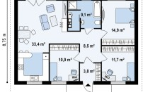 Проект дома из СИП панелей Дублин - МосСипСтрой (изображение 2)