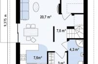 Проект дома из СИП панелей Таунс - МосСипСтрой (изображение 2)