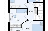 Проект дома из СИП панелей Таунс - МосСипСтрой (изображение 3)