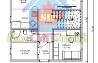 Проект дома из СИП панелей Купавна - МосСипСтрой (изображение 1)