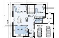 Проект дома из СИП панелей Сиэтл - МосСипСтрой (изображение 2)
