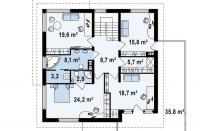 Проект дома из СИП панелей Сиэтл - МосСипСтрой (изображение 3)