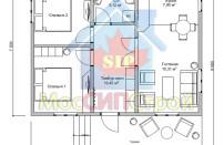 Проект дома из СИП панелей Старт - МосСипСтрой (изображение 1)