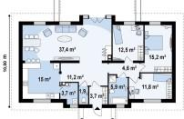 Проект дома из СИП панелей Хьюстон - МосСипСтрой (изображение 2)