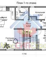Проект дома из СИП панелей Семейный - МосСипСтрой (изображение 1)