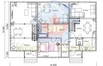 Проект дома из СИП панелей Дом на три семьи - МосСипСтрой (изображение 1)