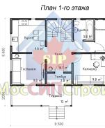 Проект дома из СИП панелей Винёво - МосСипСтрой (изображение 1)