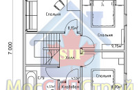 Проект дома из СИП панелей Дания - МосСипСтрой (изображение 10)