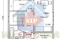 Проект дома из СИП панелей Дания - МосСипСтрой (изображение 1)