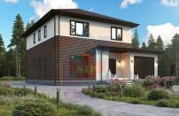 Проект дома из СИП панелей Марфино Z24 - МосСипСтрой (изображение 1)