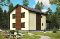 Проект дома из СИП панелей Елена - МосСипСтрой (изображение 1)