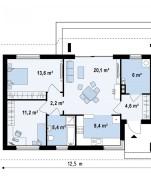 Проект дома из СИП панелей Торонто - МосСипСтрой (изображение 2)
