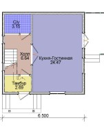 Проект дома из СИП панелей Лидия - МосСипСтрой (изображение 1)