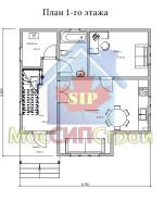 Проект дома из СИП панелей Дубовик - МосСипСтрой (изображение 1)