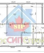 Проект дома из СИП панелей Маргарита  - МосСипСтрой (изображение 2)