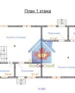Проект дома из СИП панелей Дуплекс №1 - МосСипСтрой (изображение 1)