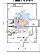 Проект дома из СИП панелей Руно - МосСипСтрой (изображение 1)