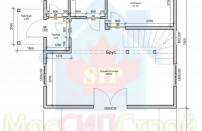 Проект дома из СИП панелей Канадец мансардный - МосСипСтрой (изображение 1)