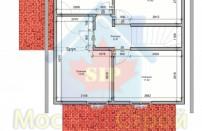 Проект дома из СИП панелей Канадец мансардный - МосСипСтрой (изображение 2)